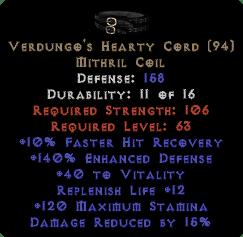 Verdungo's Hearty Cord - 15/40/140