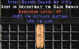 102 Attack Rating w/ 36-40 Life GC