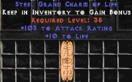103-116 Attack Rating w/ 10-20 Life GC