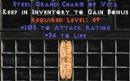 103-116 Attack Rating w/ 36-40 Life GC