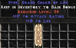 117 Attack Rating w/ 10-20 Life GC
