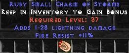 11 Resist Fire w/ 1-28 Lightning Damage SC