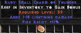 11 Resist Fire w/ 1-18 Lightning Damage SC