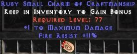 11 Resist Fire w/ 1 Max Damage SC