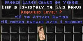 12 Attack Rating w/ 15 Poison Damage LC