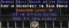 12 Attack Rating w/ 2-4 Cold Damage SC