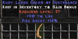 15 Resist Fire w/ 20 Life LC