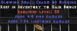 1-24 Lightning Damage w/ 4-8 Fire Damage SC