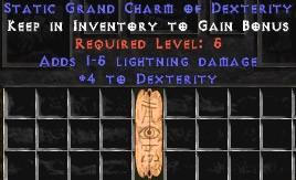 1-5 Lightning Damage w/ 4 Dex GC
