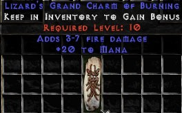 20 Mana w/ 3-7 Fire Damage GC