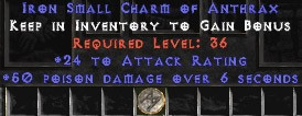 24 Attack Rating w/ 50 Poison Damage SC