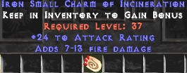24 Attack Rating w/ 7-13 Fire Damage SC