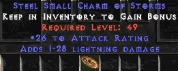 25-32 Attack Rating w/ 1-28 Lightning Damage SC