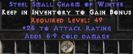25-32 Attack Rating w/ 5-9 Cold Damage SC