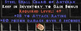 25-32 Attack Rating w/ 50 Poison Damage SC