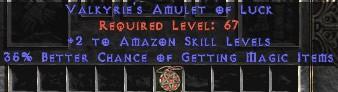 Amazon Amulet - 2 All Zon Skills & 35% MF