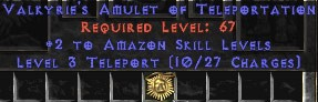 Amazon Amulet - 2 All Zon Skills & Teleport