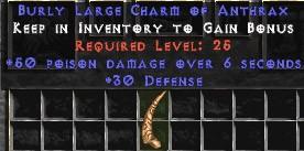 30 Defense w/ 50 Poison Damage LC