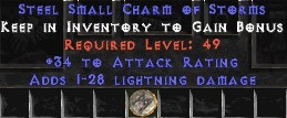 33-35 Attack Rating w/ 1-28 Lightning Damage SC