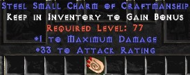 33-35 Attack Rating w/ 1 Max Damage SC