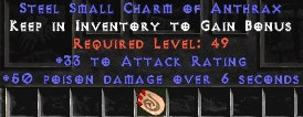 33-35 Attack Rating w/ 50 Poison Damage SC