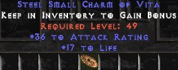 36 Attack Rating w/ 16-19 Life SC