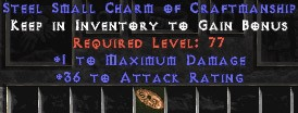 36 Attack Rating w/ 1 Max Damage SC - Perfect