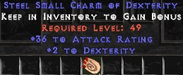 36 Attack Rating w/ 2 Dex SC - Perfect