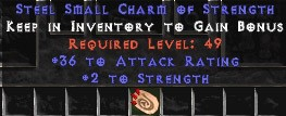 36 Attack Rating w/ 2 Str SC - Perfect