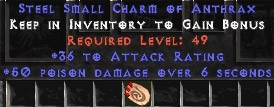 36 Attack Rating w/ 50 Poison Damage SC - Perfect