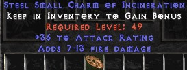 36 Attack Rating w/ 7-13 Fire Damage SC - Perfect