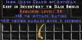 38 Attack Rating w/ 50 Poison Damage LC