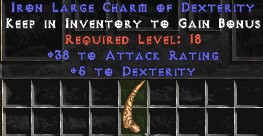 38 Attack Rating w/ 5 Dex LC
