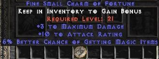 3 Max Damage w/ 10-16 AR & 5% MF SC
