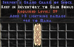 46 Mana w/ 1-3 Lightning Damage GC