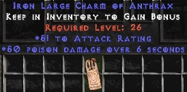 51 Attack Rating w/ 50 Poison Damage LC