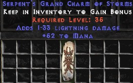 52 Mana w/ 1-33 Lightning Damage GC