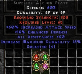 60 Resist All/60 IAS Archon Plate
