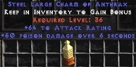 64 Attack Rating w/ 50 Poison Damage LC