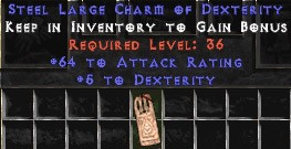 64 Attack Rating w/ 5 Dex LC