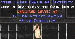 77 Attack Rating w/ 5 Dex LC