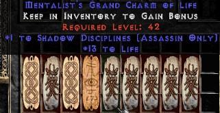 9 x Pack - Assassin Shadow Disciplines w/ 10-20 Life GC
