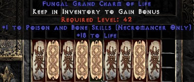 9 x Pack - Necromancer Poison & Bone Skills w/ 10-20 Life GC