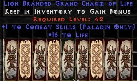 9 x Pack - Paladin Combat Skills w/ 10-20 Life GC