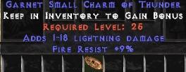 9 Resist Fire w/ 1-18 Lightning Damage SC