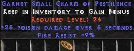 9 Resist Fire w/ 25 Poison Damage SC