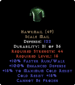Hawkmail - 122 Def, +100% ED - Perfect