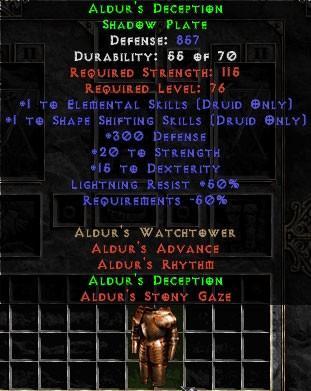 Aldur's Deception- 50% Light Res