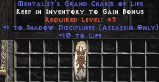 Assassin Shadow Disciplines w/ 10-20 Life GC