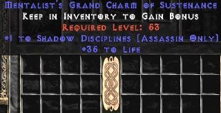 Assassin Shadow Disciplines w/ 35 Life GC